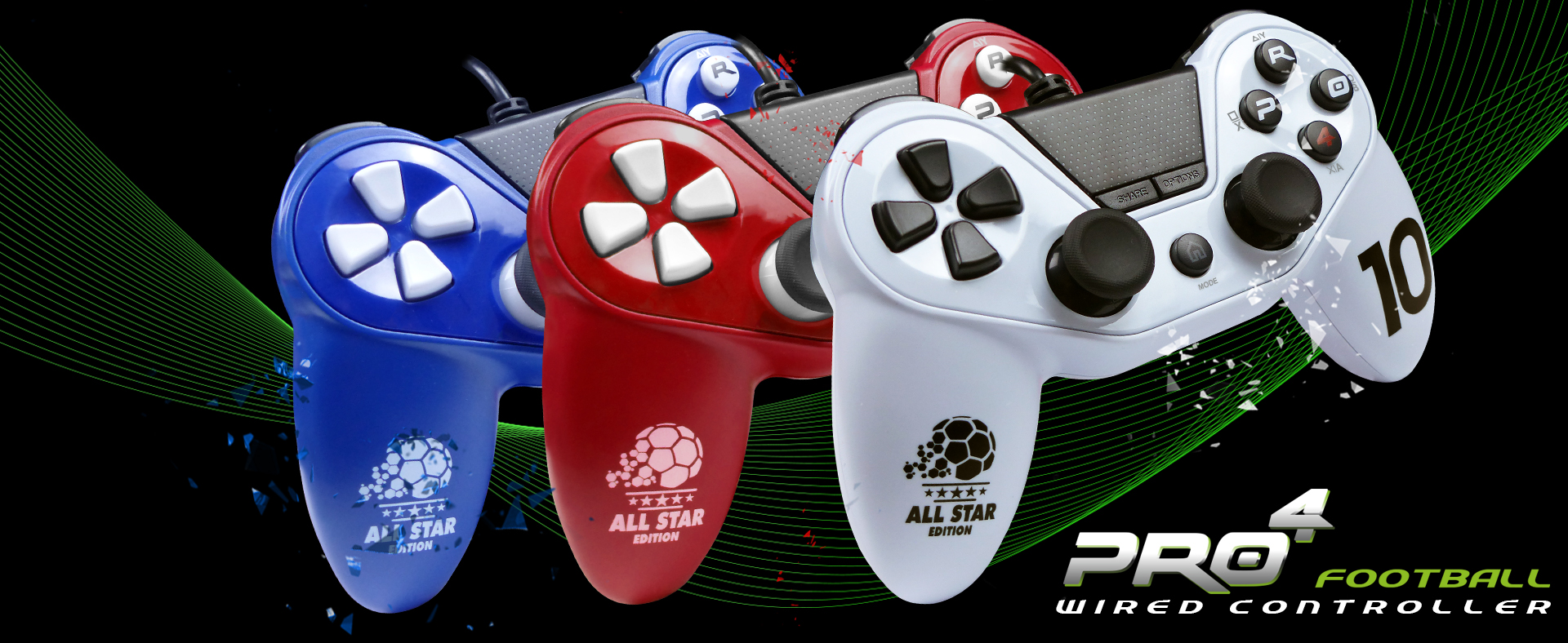 Collection Pro5 controller compatible with PS4 - Playstation 4
