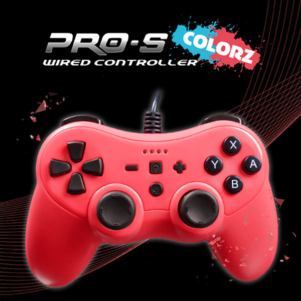 ProS Colorz Wired controller Switch Rosso